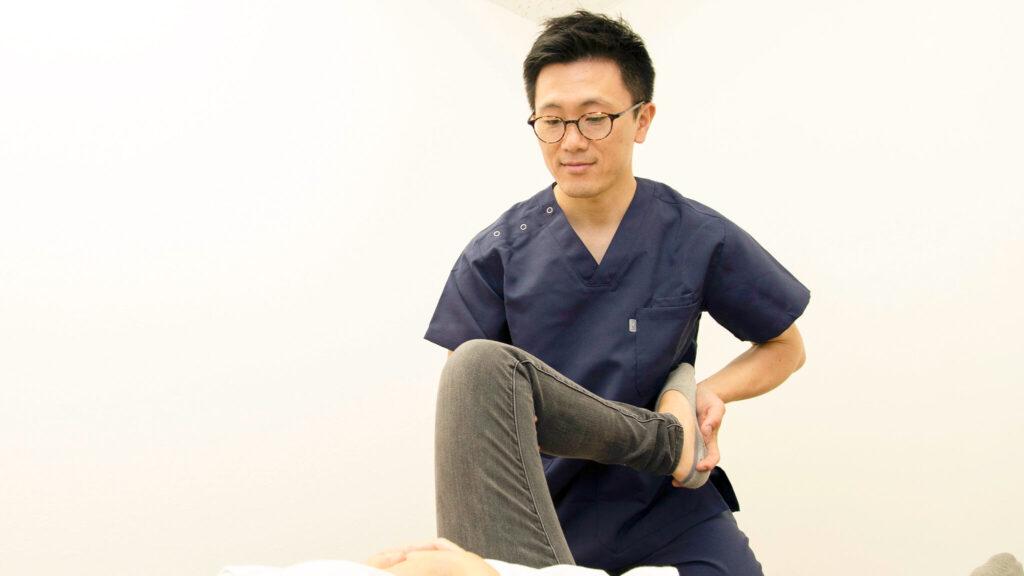 膝の整体施術